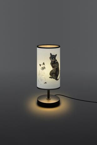 金襴生地を使用した猫(ねこ)サイドスタンド