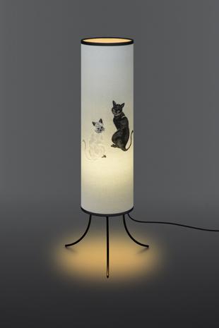 金襴生地を使用した猫(ねこ)